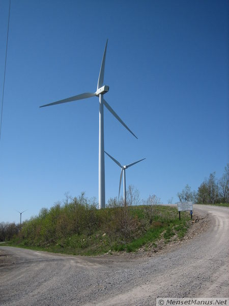 Two new 1.8 MW wind turbines are now seen before reaching the 3 ...